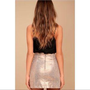 Free People Skirts - Free People Modern Femme Foiled Mini Skirt